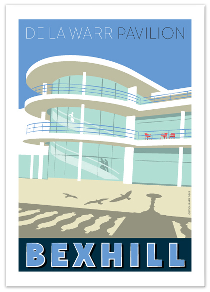 Greetings card of the De La Warr Pavilion, Bexhill