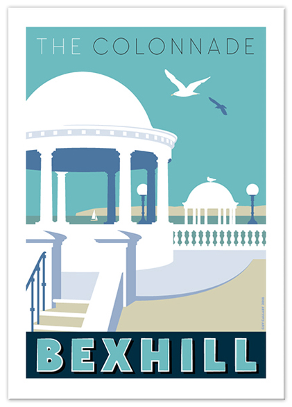 Greetings card of The Colonnade, Bexhill