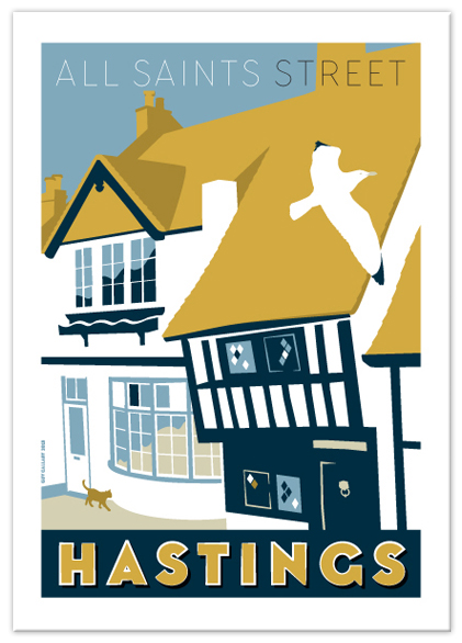 Greetings card of All Saints Street, Hastings