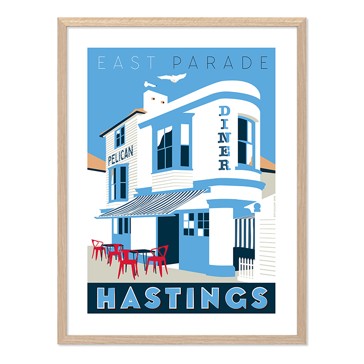 Print of Pelican Diner on East Parade, Hastings