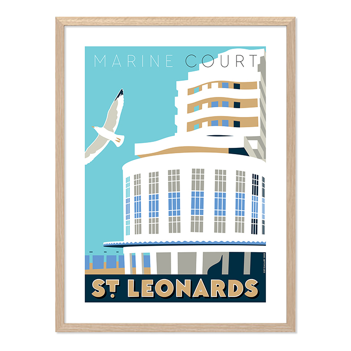 Print of Marine Court, St Leonards