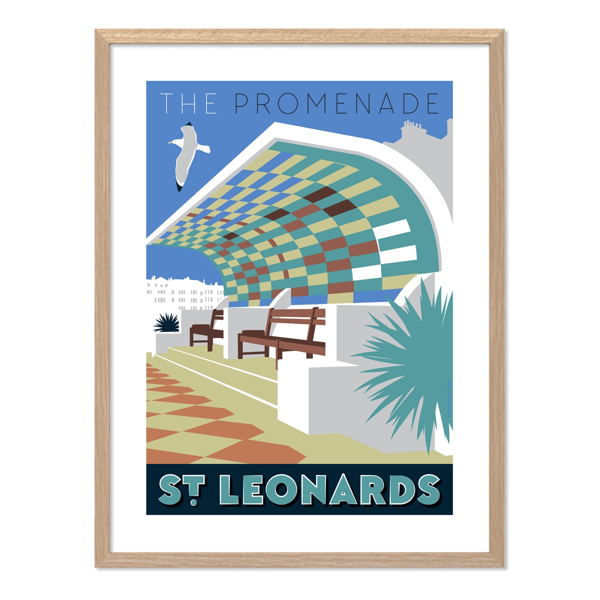 Print of The Promenade shelter, St Leonards